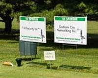Attend the Outing Tee signs